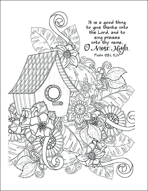 Oh Give Thanks To The Lord Coloring Page Exodus Bible Study Week 2