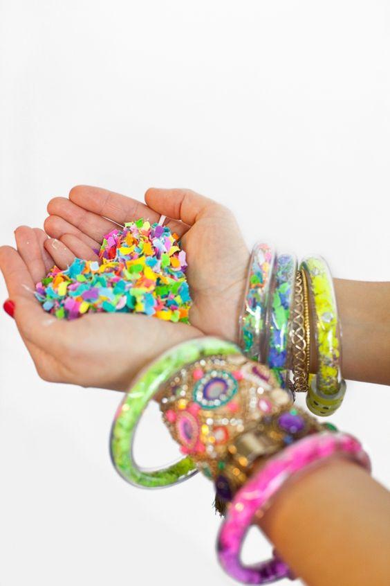 Colorful Confetti Bracelets