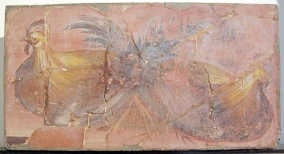 "Villa dei Papiri - fresque ""volailles"":"
