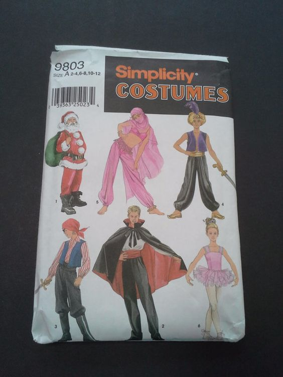 Simplicity Costumes 9803 Size A 2-4 6-8 by BloomingRoseCrochet