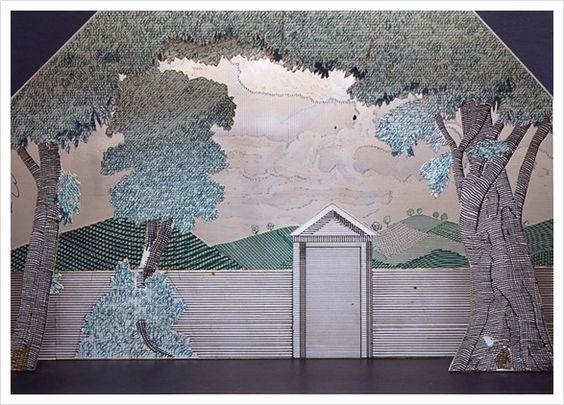 3D paper art based on 2D