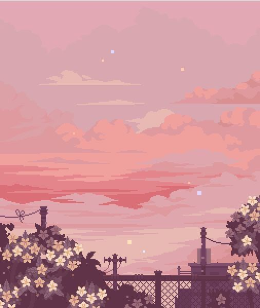 Pixel Sunset January 11 2020 At 09 53pm In 2020 Aesthetic Art