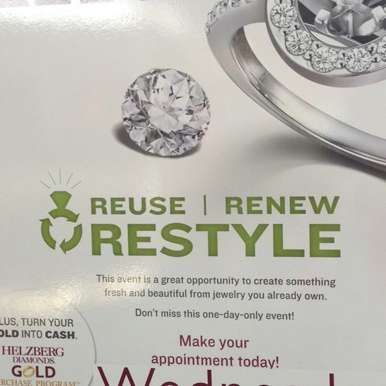 Couldn't resist!! Diamonds and recycling in the same event??