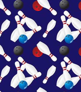 Novelty Quilt Fabric- Bowling