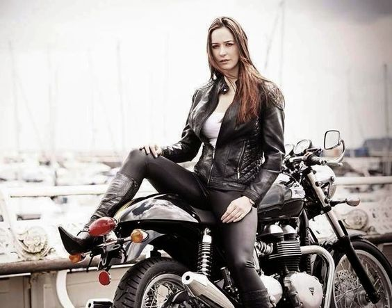 Image result for bikers girls