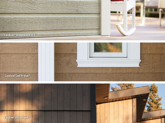 Lp canexel prefinished siding is available in three unique for Prefinished siding