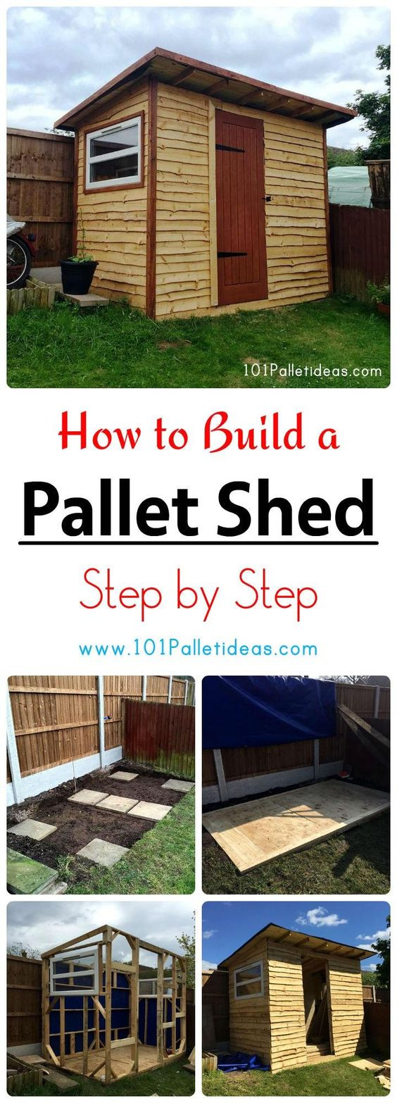 How to Build a Pallet Shed - Step by Step | 101 Pallet Ideas
