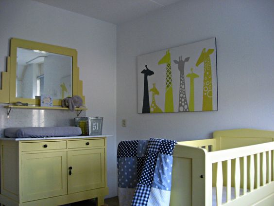 Project Nursery Dresser Crib And Painting Of Giraffes Loooove The Touch