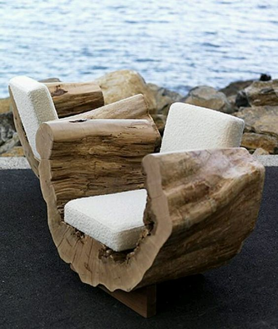 Miroir Bois Flotte Casa : Outdoor Tree Stump Chairs