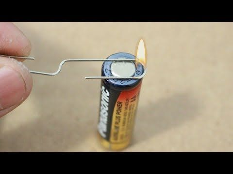 How To Make Fire With A Single Battery And Paper Clip Survival Hack Youtube How To Make Fire Survival Tips Paper Clip