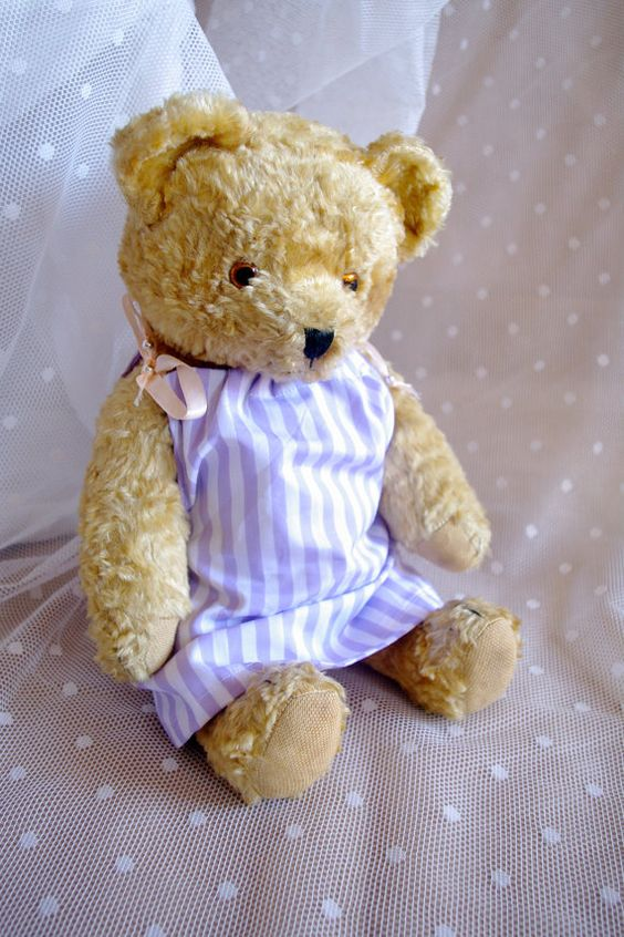 Antique Old Vintage Teddy Bear 1930s-1940s by BlackFootedCat
