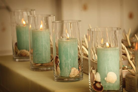 Wedding table centerpieces candles hurricane s