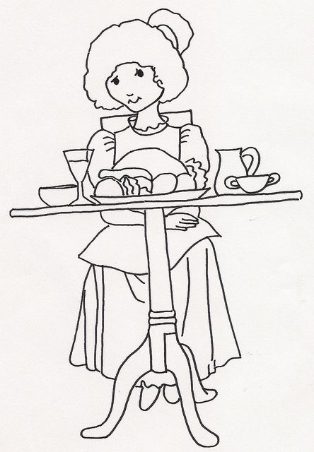 Girl w Food on Table by jeninemd, via Flickr