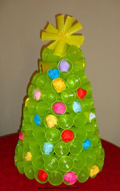 20 decorazioni di natale da realizzare con bicchieri di plastica o carta