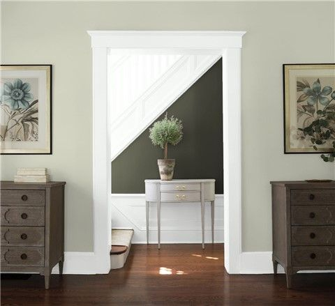 Look At The Paint Color Combination I Created With Benjamin Moore Via Benjamin Moore Near Wall Color Combinations Paint Entryway Color Ideas Entryway Colors