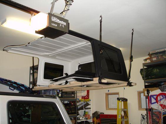 Jeep hard top storage my jeeps jeep pinterest we for Garage jeep villeneuve d ascq