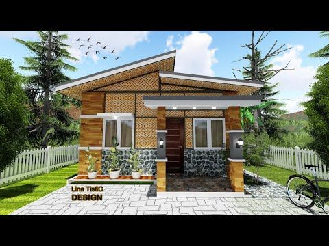 House Design 6 Meters X 6 Meters With 2 Bedroom Amakan House Youtube Small House Design Philippines Philippines House Design House Roof Design