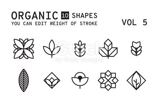 Geometric Logo Design Minimal Linear Vector Shapes Set With Easy