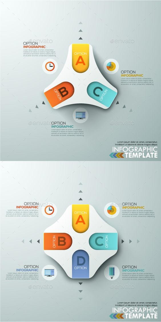 Modern Infographics Paper Template 2 Items – Paper Design Template