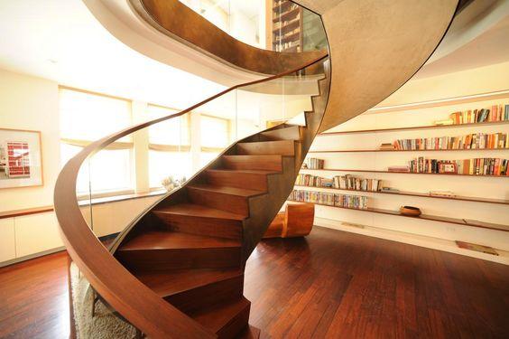 Contemporary Spiral Concept Staircase Design #luxurious #fancy #lovely #staircase #design #interior // #interiordesign