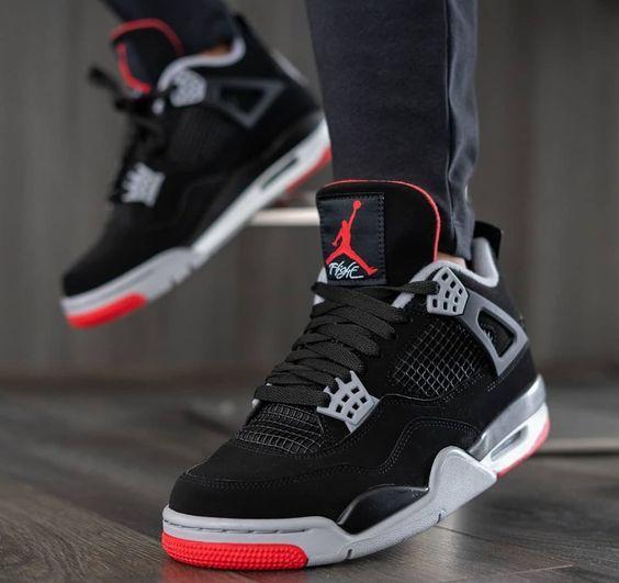 Air Jordan 4 Retro OG 'Bred' 2019   Jordan shoes retro, Sneakers ...