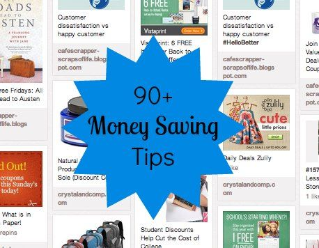 90 + Money Saving Tips