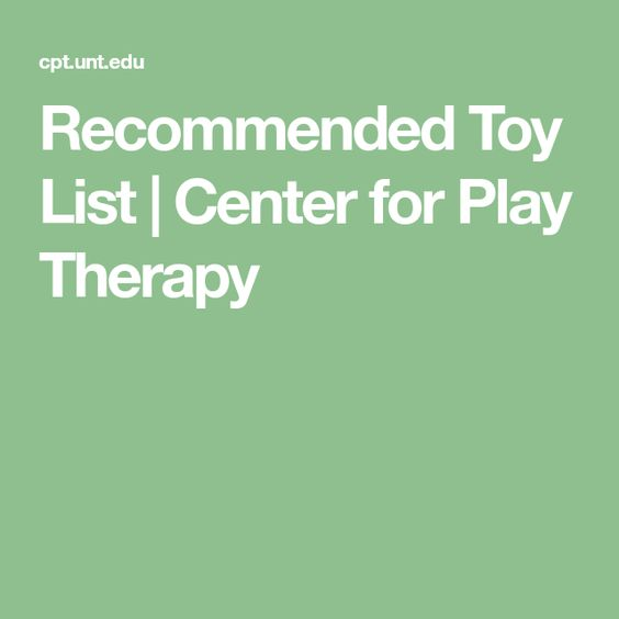 Recommended Toy List   Center for Play Therapy