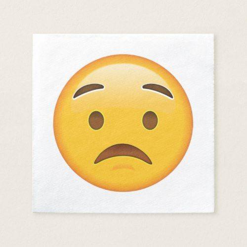 Worried Face Emoji Napkin Personalized Emoji Emoji Napkins