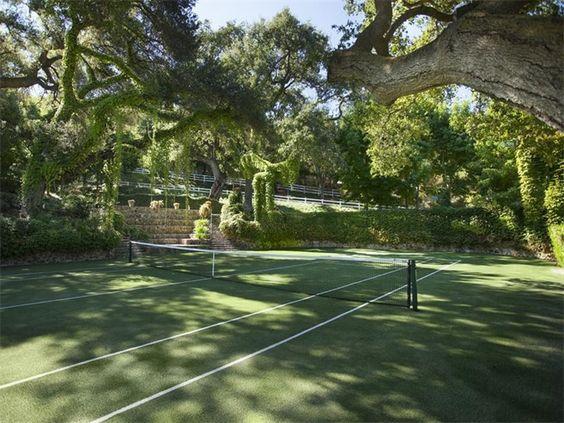 Grass Tennis Court In Backyard : MY DREAM TENNIS COURT! GRASS COURT with BIG TREES!!!!