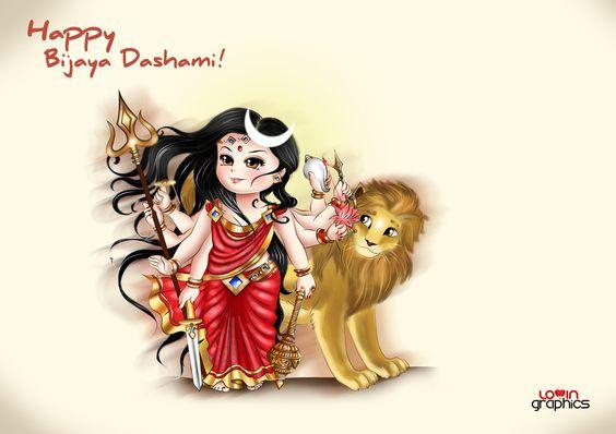 Chibi of Goddess Durga by LoVa85.deviantart.com on @deviantART