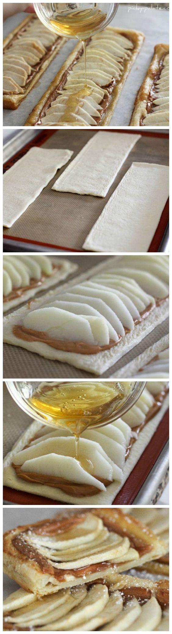 Honeyed Apple Peanut Butter Tart | Tartas, Bollería y Hojaldres