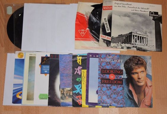20x 7  Vinyl Collection POP Hasselhoff Presley Astley Wonder