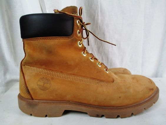 Mens TIMBERLAND WATERPROOF 18094 Lace Up Leather HIKING Work Boots All Terrain Shoes BROWN 9.5