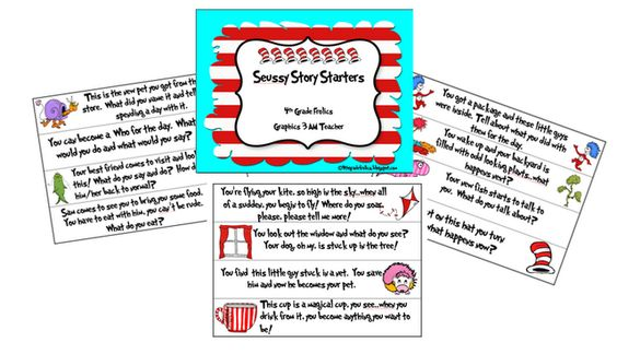 Seussy Store Starters from a 4th grade teacher