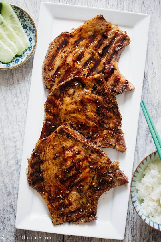 Vietnamese Lemongrass Grilled Pork Chops