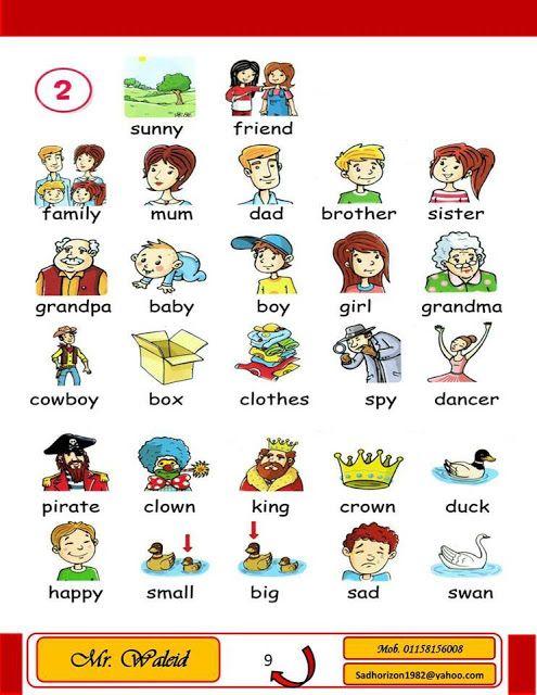 قاموس مصور للاطفال لتعلم الانجليزية وتقوية قاموس الانجليزية للطفل Baby Boy Clothing Boxes Brother Sister