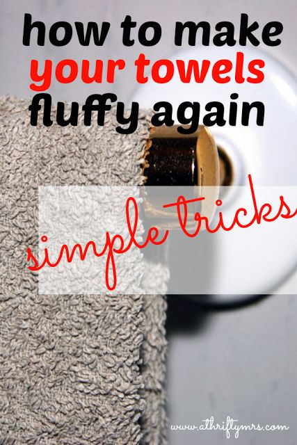 How to make your towels fluffy again