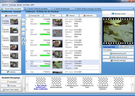 Die Diashow Software kannst du ganz einfach kostenlos herunterladen.