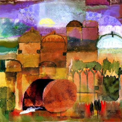Empty Tomb Painting by Mike Torevell at ArtistRising.com ...