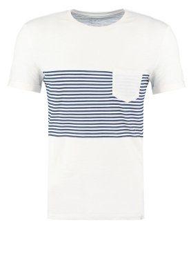 T-Shirt print - ecru/navy