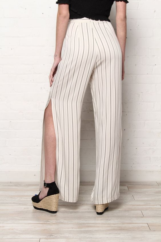 BB Dakota Rebekah Wide Leg Stripe Pant