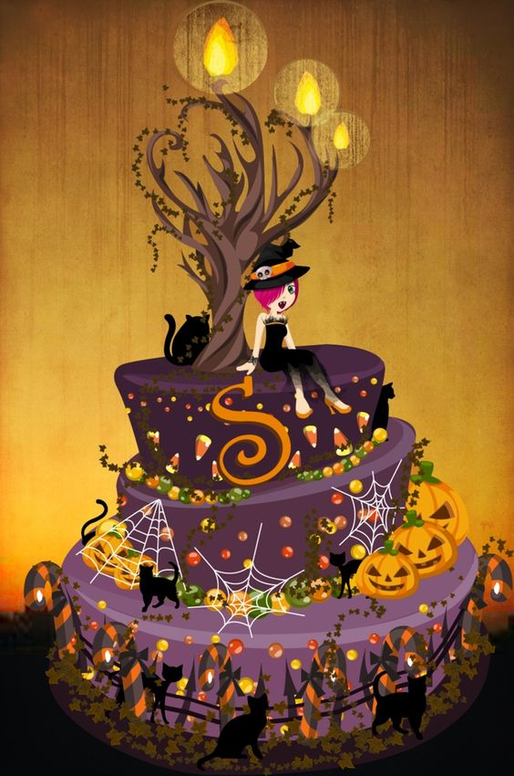 lizzy, this is a halloween birthday cake idea