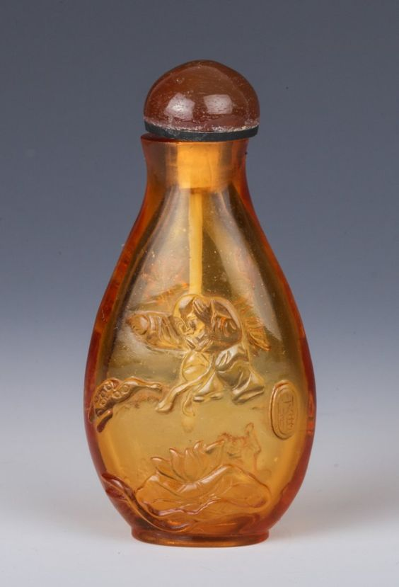 20th Century Chinese Peking Glass Snuff Bottle