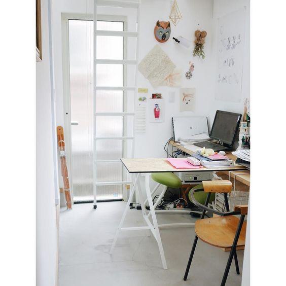 rearranged my workroom ずっと作業のしづらさが気になっていたワークスペースに作業台を付け足しましたまずは合板とIKEAの脚とで簡単に #workroom #vscodaily by chocochop2