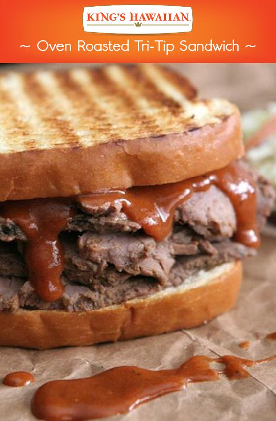 -Roasted Tri-Tip Sandwich using our KING'S HAWAIIAN Original Sweet ...