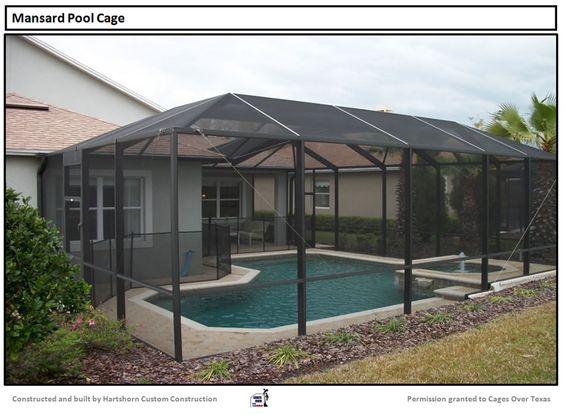 Pool Enclosure Houston Tx Builder Of Outdoor Pool Screened Enclosures Pools Backyard Inground Pool Screen Enclosure Backyard Pool Landscaping