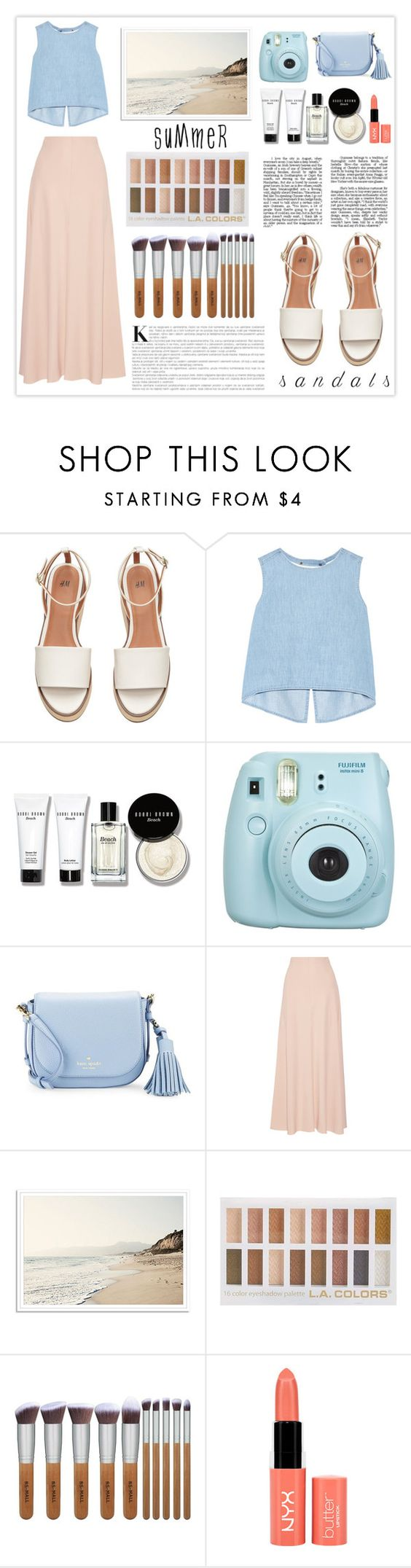 """""""cool for the summer"""" by littleheartz ❤ liked on Polyvore featuring Steve J & Yoni P, Bobbi Brown Cosmetics, Kate Spade, The Row, NYX and summersandals"""