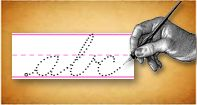 Just type in your kids name and they can practice cursive.  They have print also for little kids.
