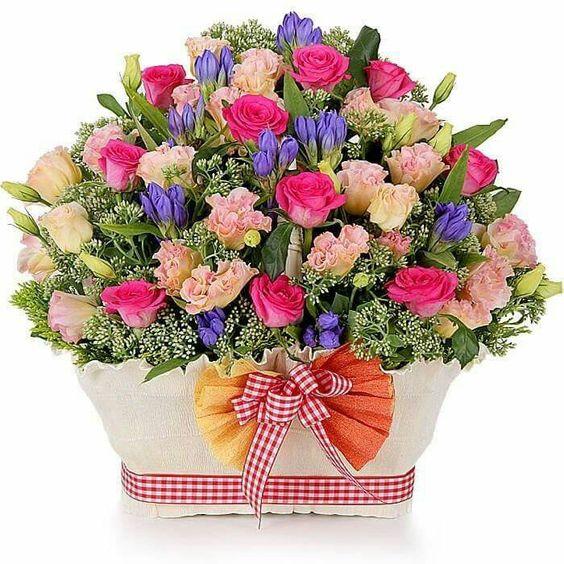 Cesta flores: