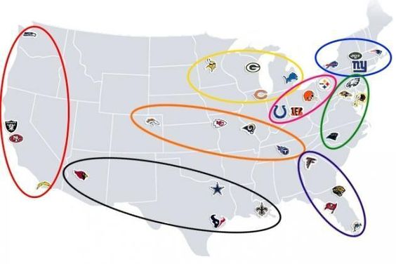 The  NFL  divisions are named by conference and cardinal directions, but it's never really made sense to have a northern team like the Indianapolis Colts in the AFC South...